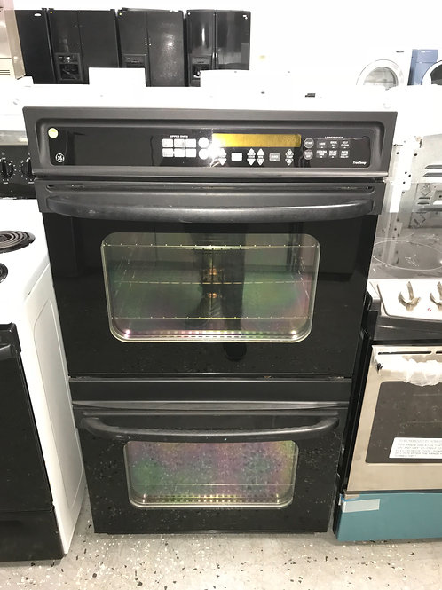 Ge in-wall double oven black