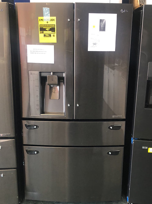 Brand new LG counter depth black stainless 4 door French door with 1 yr warranty