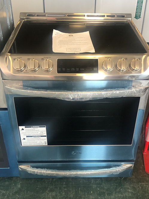 Brand new LG stainless slide in electric stove with one year warranty