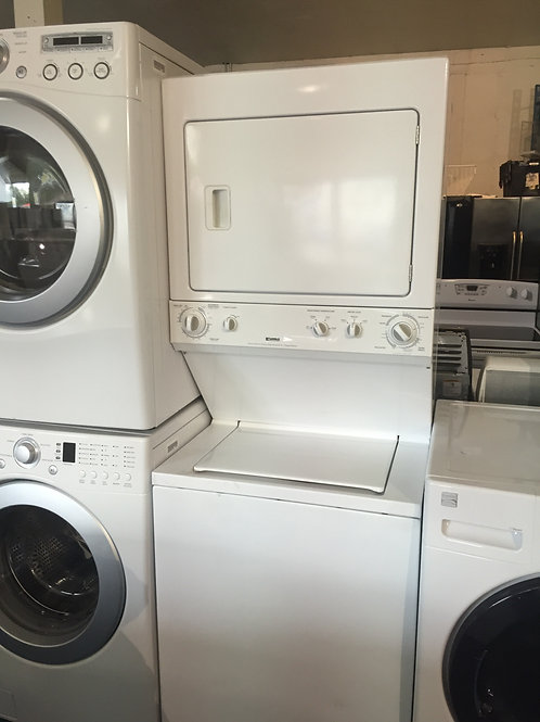 "27""KENMORE STCAKUNIT WASHER DRYER HEAVY DUTY WITH 90 DAYS WARRANTY"