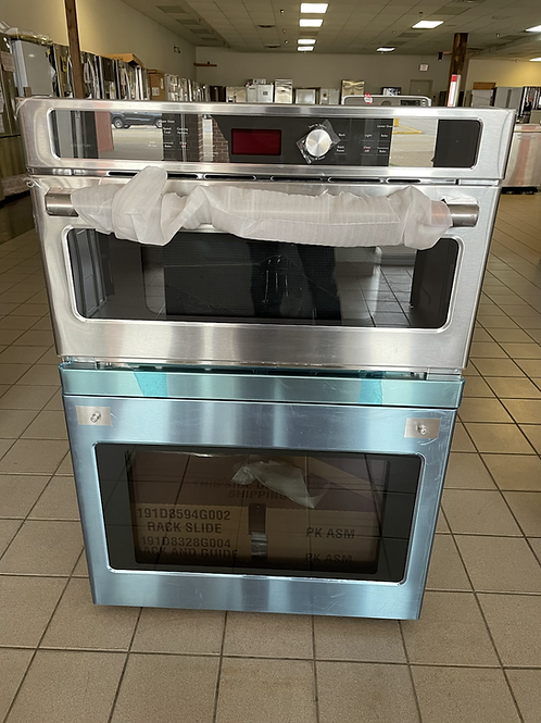 """Ge cafe brand new open box 30"""" Stainless steel combo."""