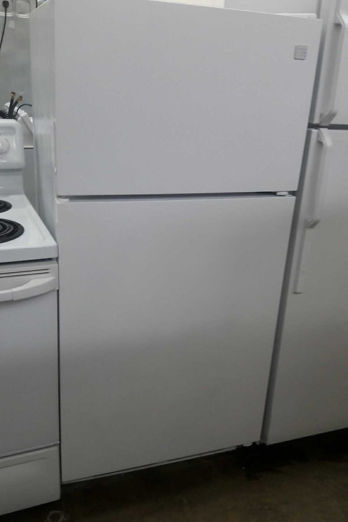 "28""width and 60""height top and bottom fridge white"