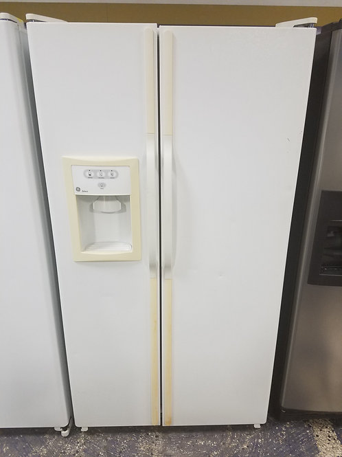36x69 White GE Side By Side Refrigerator