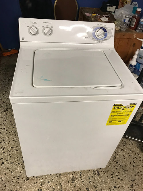 Ge brand  refurbished top load washer works great with warranty.