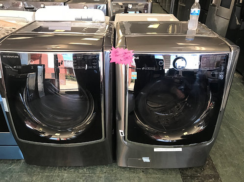 Lg brand open box scratch and dent model jumbo washer dryer set