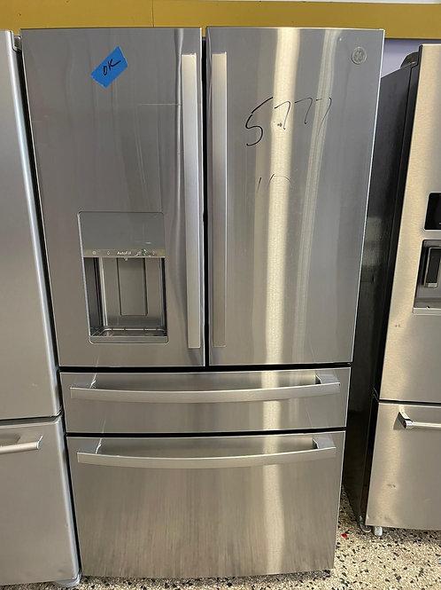 new open box ge four door fridge with warrnty