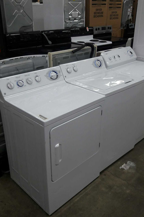 "27"" width GE top load washer and dryer set"