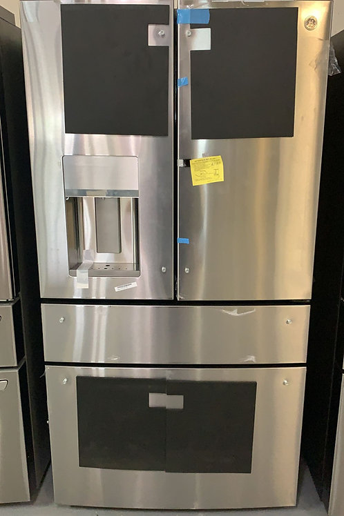 ge cafe stainless steel french door fridge with warrnty
