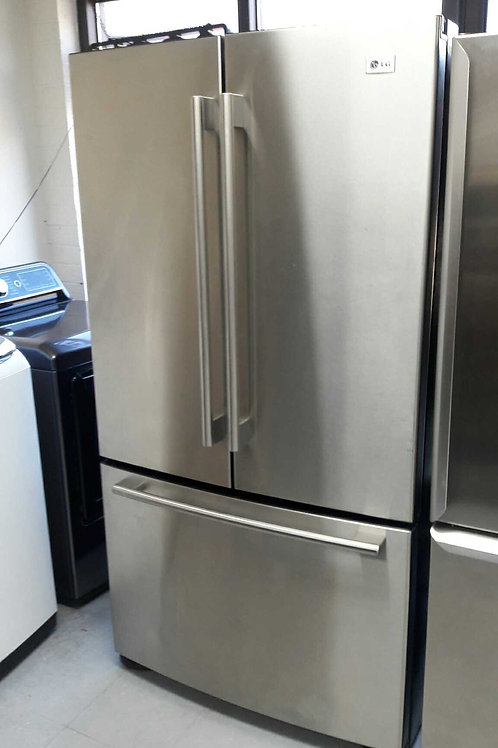 """36""""width LG counter depth fridge stainless steel"""
