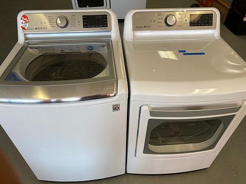 lg top load washer dryr set new