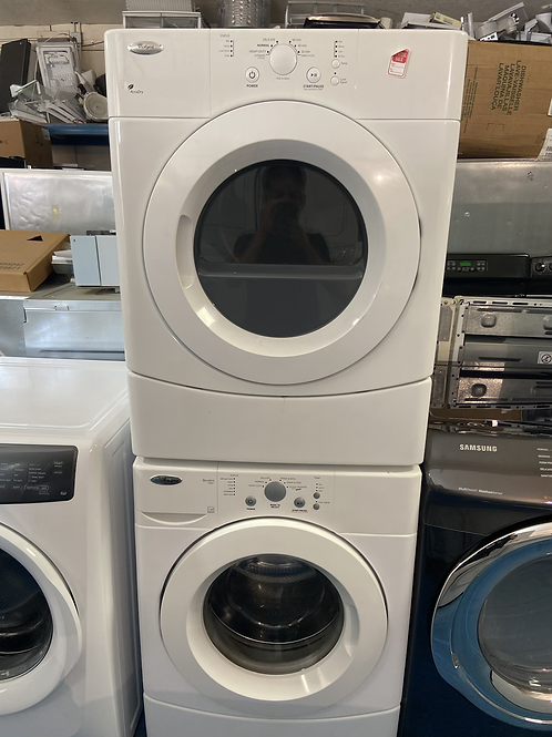 """27"""" stackable washer dryer great working order with 60 days warranty"""