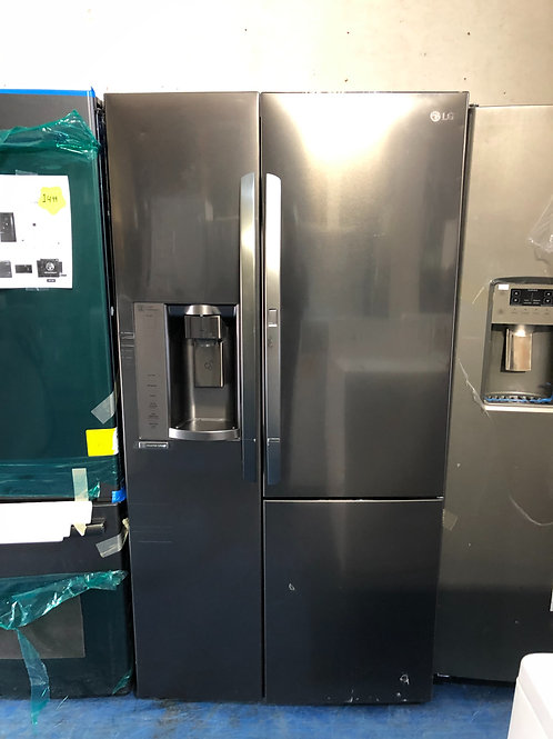 "36""lg new scratch dent black stainless side by side fridge 1 year warranty"