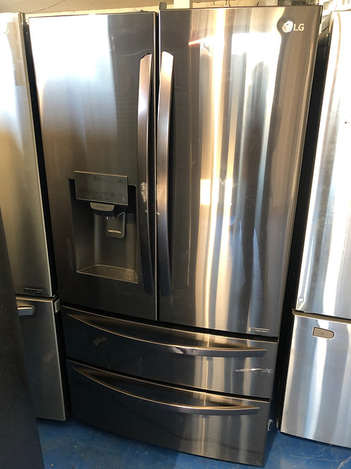 "36""lg new scratch dent black stainless 4doors frenchdoor fridge with warranty"