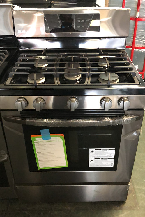 "30"" NEW LG GAS BLACK STAINLESS STEEL WITH WARRANTY"