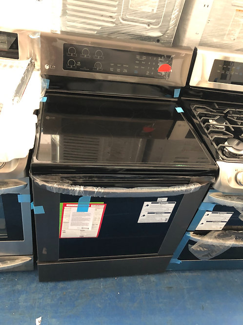 Lg new scratch dent black stainless electric stove 1 year warranty