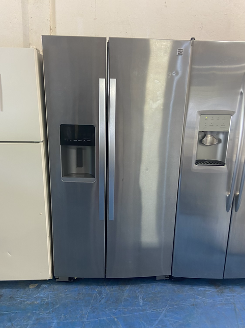 """36"""" Kenmore stainless side by side fridge with 60 days warranty"""