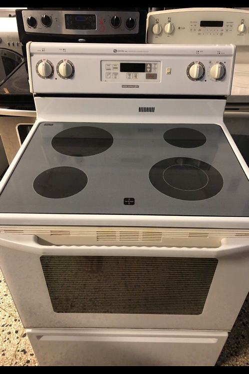 """30""""maytag glass top white stove great working with 45 days warrnty"""