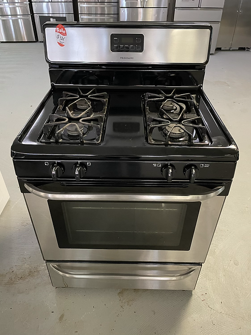 Frigidaire refurbished gas stainless steel stove.