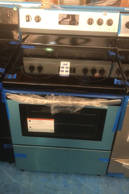 New open box Frigidaire Electric stove with 1 year warranty