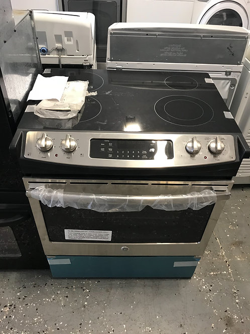 Ge brand refurbished slide in electric stove stainless steel.