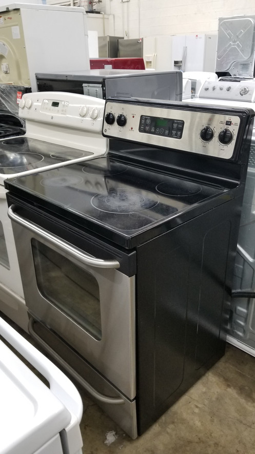 Better Liance Temple Hills Location Refurbished Electric Stove Stainless Steel Gl Top Perfect Working Condition With 45 Days Warranty Oven