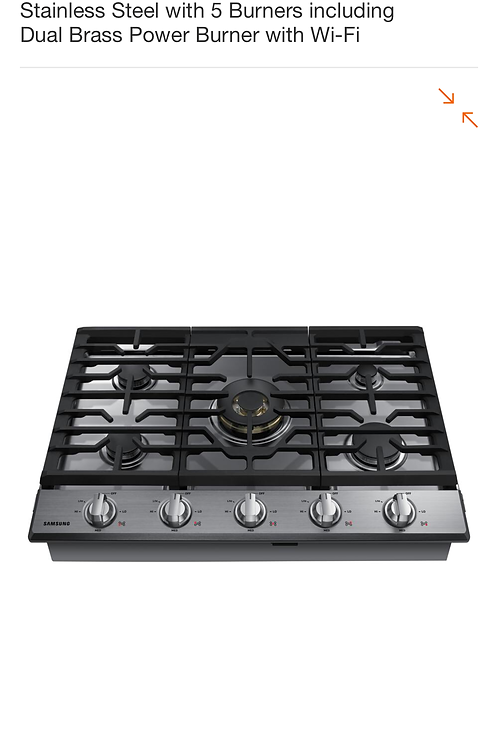 "Brand new 30""stainless Samsung gas cooktop with 1 year warranty"