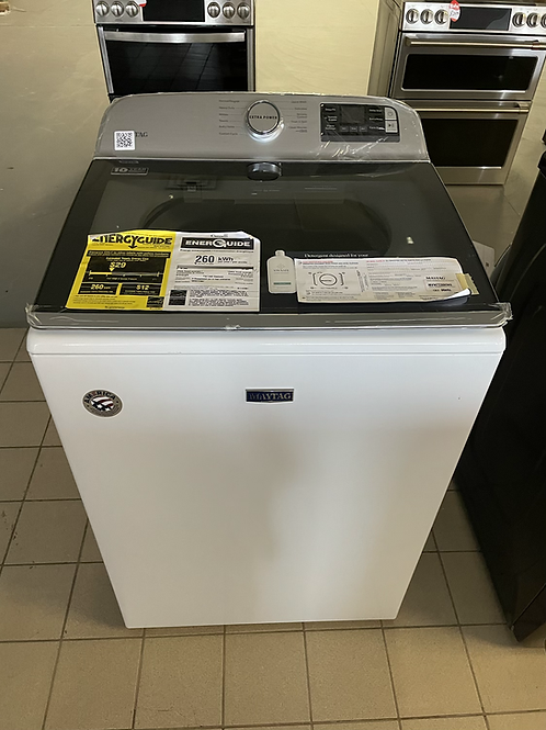 Maytag new open box XL top load washer with Manufacturer Warranty 1 year.