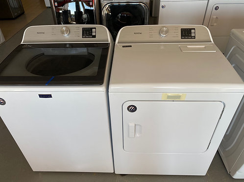 Maytag new comercial technology top load washer dryer set with warranty.