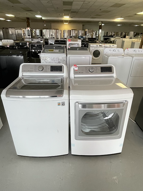 LG new open box Top load Washer Gas dryer set with warranty.