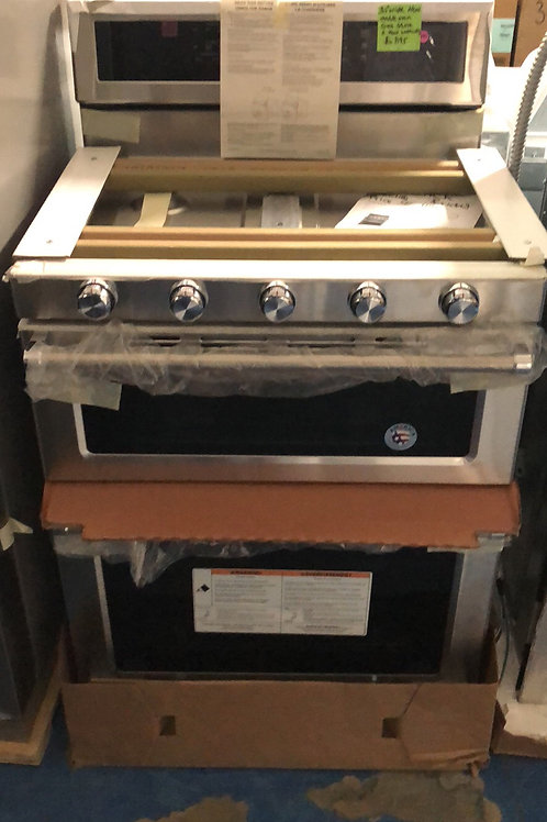 Brand new stainless double oven gas stove great works with 1 year warranty