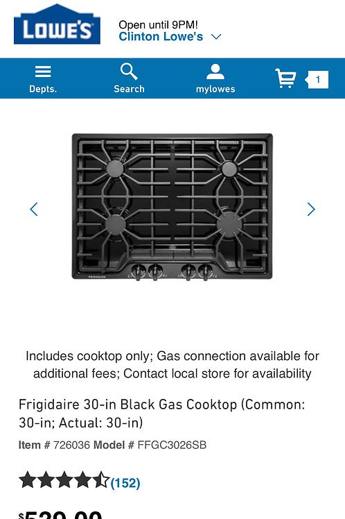 "Frigidaire 30"" gas burner cooktop"