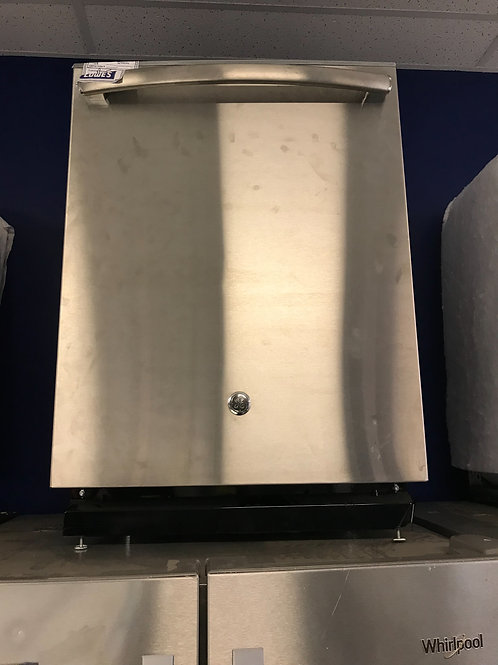 Ge brand open box scratch and dent model stainless steel dishwasher.