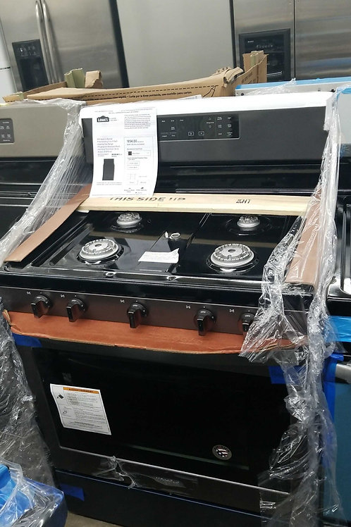 whirlpool black stainless steel gas stove new