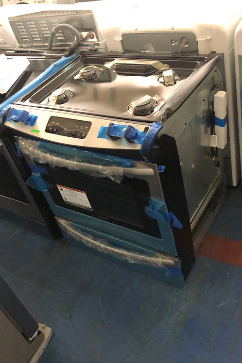 Brand new scratch and dent stainless dishwasher and slide in gas stove