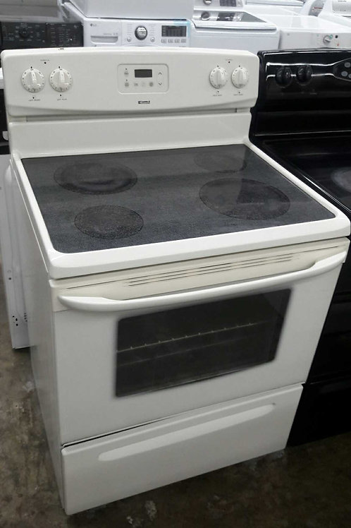 """30""""width Kenmore electric stove glass top almond"""