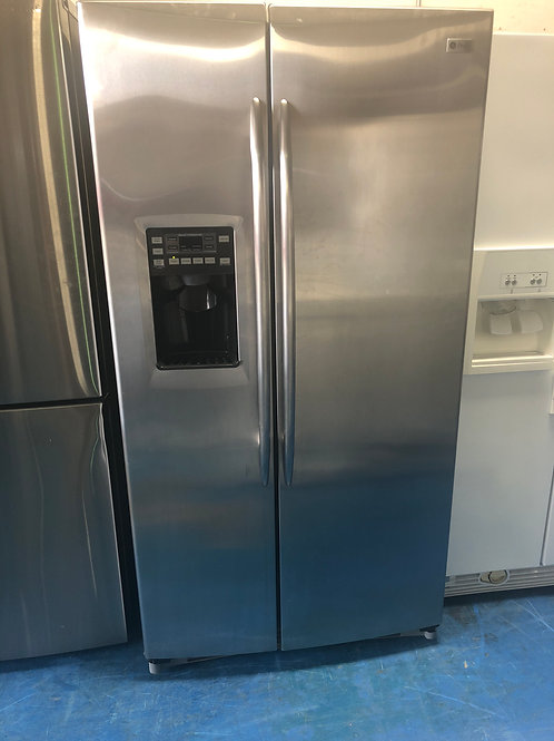 """36""""ge profile stainless side by side fridge water ice with 90 days warranty"""