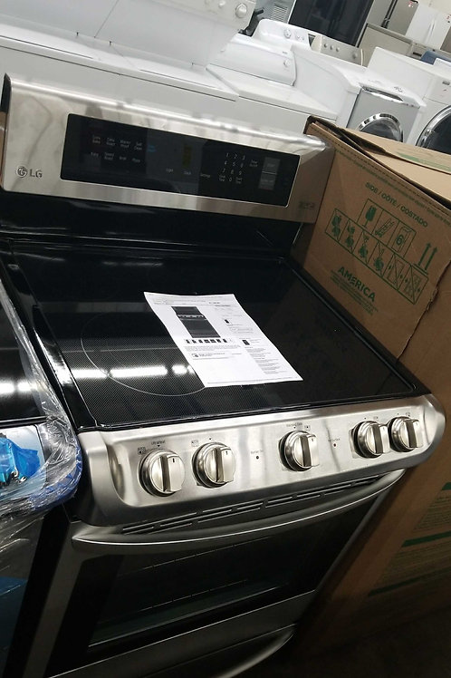 LG electric stove stainless steel new open box