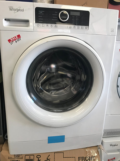 """Whirlpool brand new open box 24"""" frontload washer dryer with 1  year warranty."""