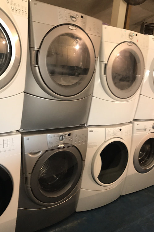 WHIRLPOOL STACKABLE WASHER DRYER SET GREAT WORKING WITH 90 DAYS WARRANTY