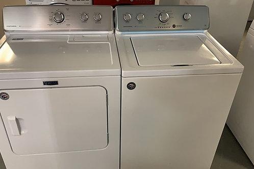 Maytag refurbished top load washer dryer set with 45 days warranty.