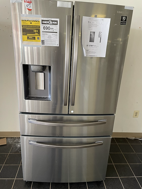 """Samsung new 4 door french door refrigerator with flex zone feature 36""""."""