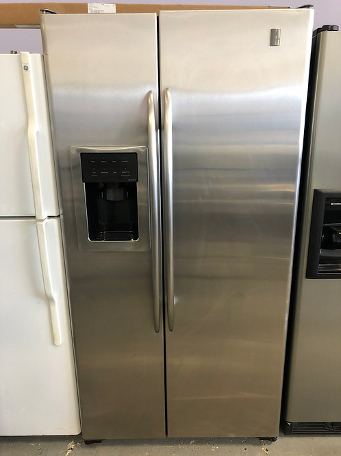 36by69 GE SIDE BY SIDE FRIDGE STAINLESS STEEL WITH WARRANTY
