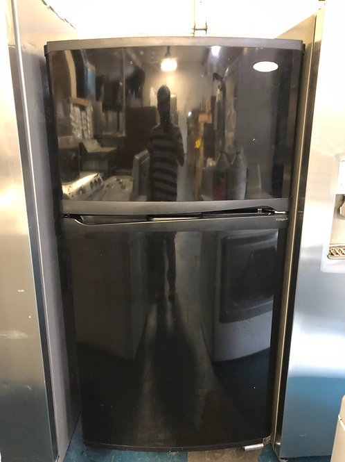 "33""refurbished whirlpool top bottom fridge with 90 days warranty"