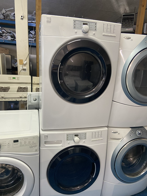 """Kenmore 27"""" stackable washer dryer set with 60 days warranty"""