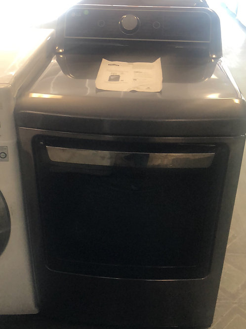 New LG balck stainless gas dryer with one year warranty