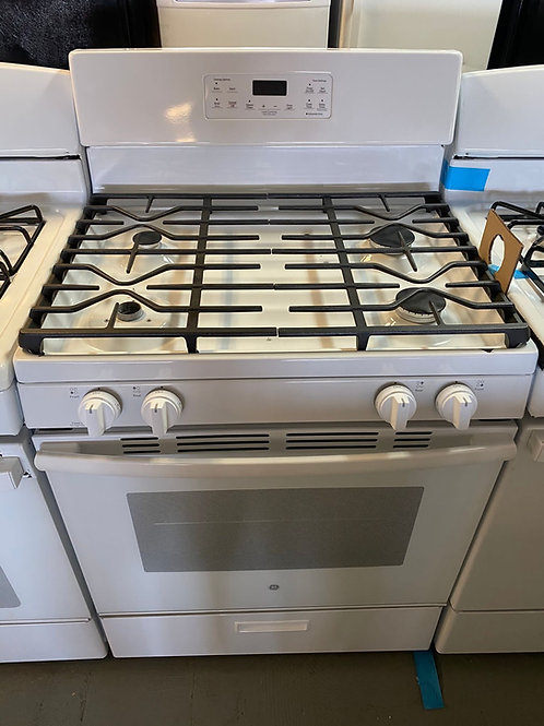 Ge new open box white gas stove working condition with warranty.