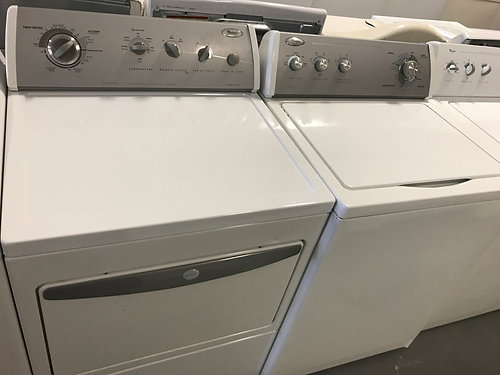 whirlpool top load washer and dryer electric set