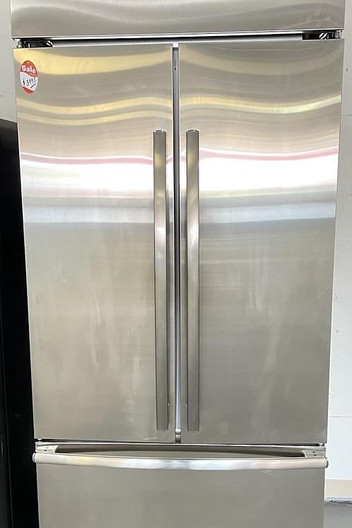 "Ge monogram 36"" Built In french door refrigerator working condition with warrant"