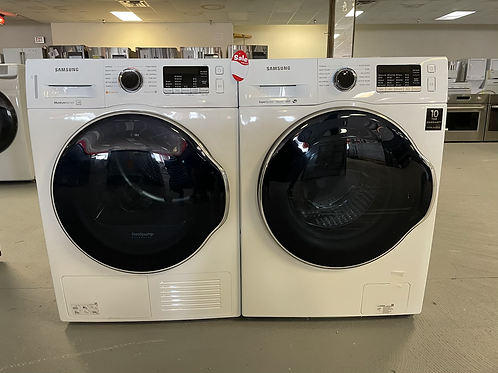 """Samsung new open box 24"""" Compact washer dryer set with warranty."""