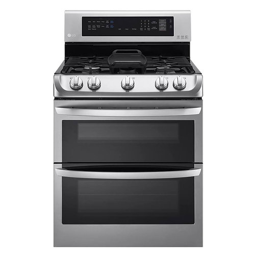 LG double oven gas stove stainless new
